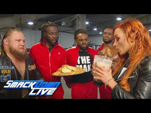 Xxx Mp4 Becky Lynch Downs Heavy Machinery 39 S Epic Protein Shake SmackDown LIVE Jan 15 2019 3gp Sex