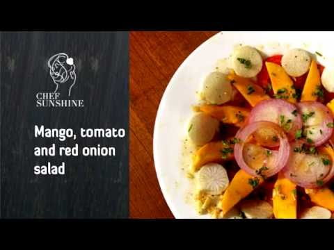 Best Mango, tomato and red onion salad