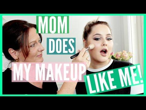MY MOM DOES MY MAKEUP... LIKE ME!! - Sanne Skar