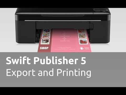 Swift Publisher 5 Tutorials - Export and Printing