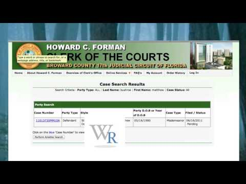 How to find you court date, place & time in Broward County