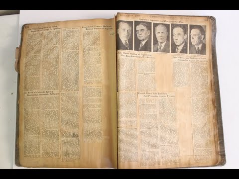 Vintage Scrapbook Newspaper Clipping Book Old Rare 1800s