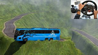Scania Thrilling bus driving | Indian Driver | Euro truck