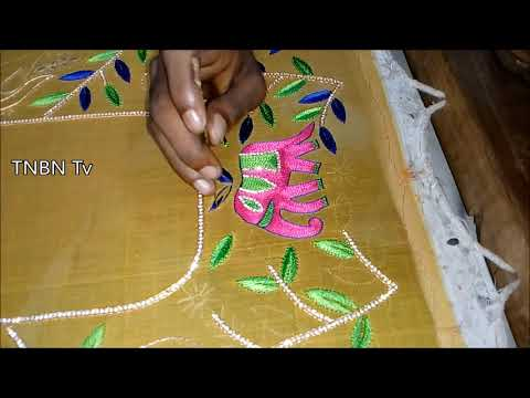 hand embroidery works online prices  | simple maggam work blouse designs | hand embroidery designs
