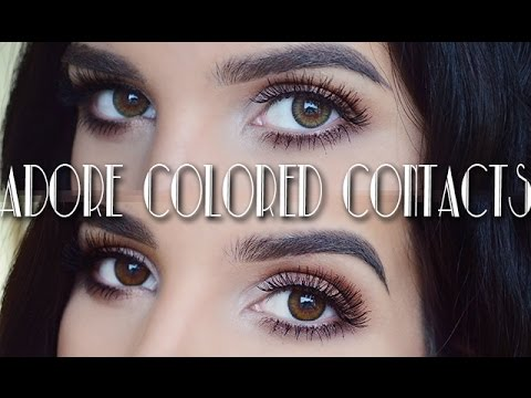 Adore Colored Contacts Review & Giveaway CLOSED!