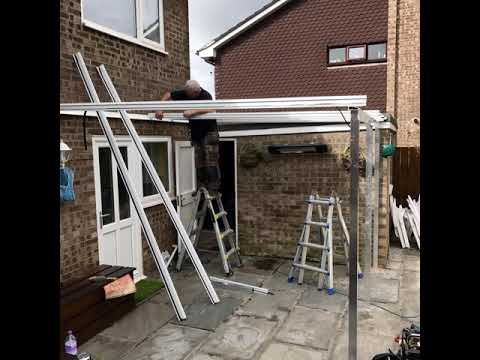 Express Garden Rooms Glass Roof Patio Canopy Build Newport