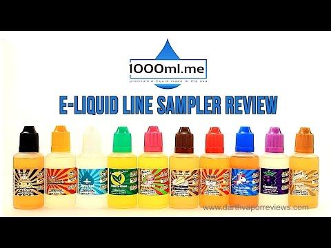 1000ml.me: E-Liquid Line Sampler Review