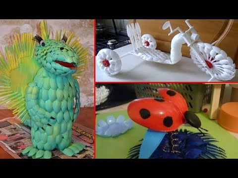 Creative Ideas With Plastic Spoons - BEST DIY CRAFTS IDEAS