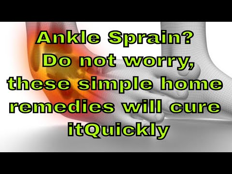Ankle Sprain? Do not worry, these simple home remedies will cure it Quickly