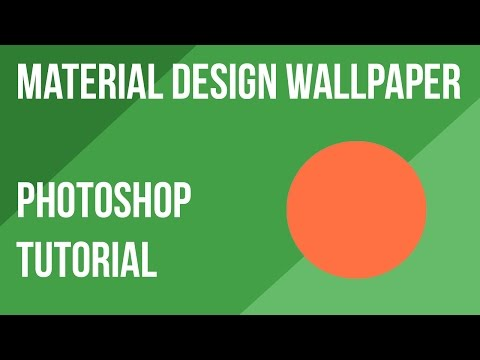 How To Make A Material Design Wallpaper In Photoshop | Photoshop Tutorial | Photoshop CS6