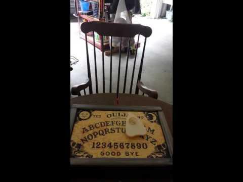 My DIY haunted rocker and ouija board.