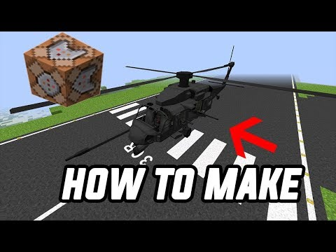 How to make a working helicopter in Minecraft pe  with command blocks!