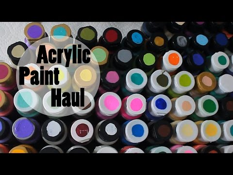 Acrylic Paint Haul | Hobby Lobby, Michael's & Walmart