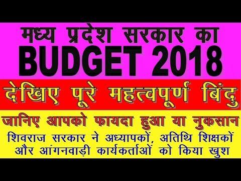 MP BUDGET 2018 | POINTS OF BUDGET | मध्य प्रदेश सरकार का बजट
