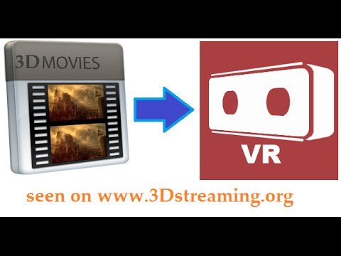 How to Convert any 3D video movie to Virtual Reality (VR) format