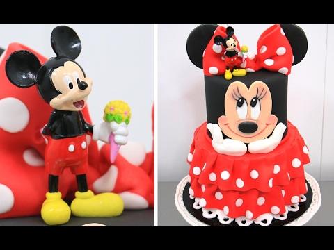 How To Make a Disney MINNIE MOUSE Cake - Pastel de la Minnie by Cakes StepbyStep