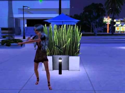 Sims3 showtime singing on streets