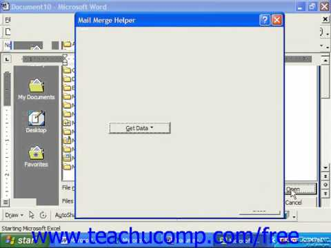 Word 2003 Tutorial Merging Labels 2000 & 97 Microsoft Office Training Lesson 23.2