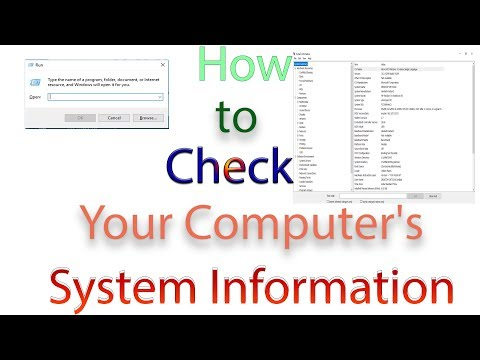 How to Check Your Computer's System Information .