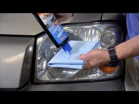 Remove the Yellowing on Headlights with Blue Magic USA's Headlight Lens Restorer