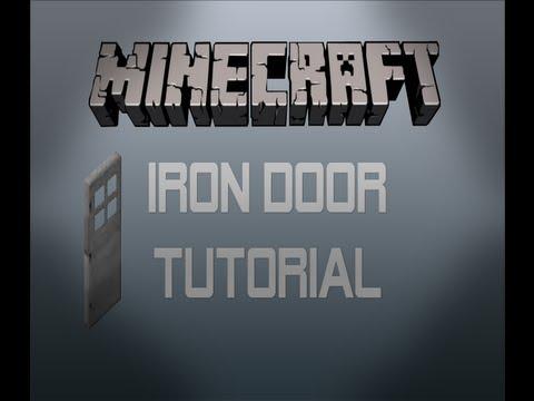 Minecraft ' How To Make A Door ' | Iron Door Tutorial | Double Door with Button | Minecraft Xbox 360