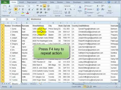 How to Record and Run Macro to Format Excel File