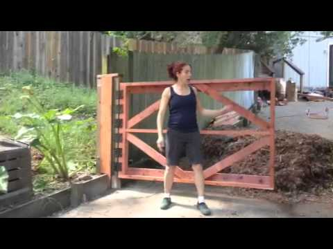 DIY Phone Consultation Testimonial Part 1, Wood Driveway Gate