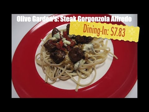 Copycat recipes restaurant recipes - Steak gorgonzola alfredo - Olive Garden