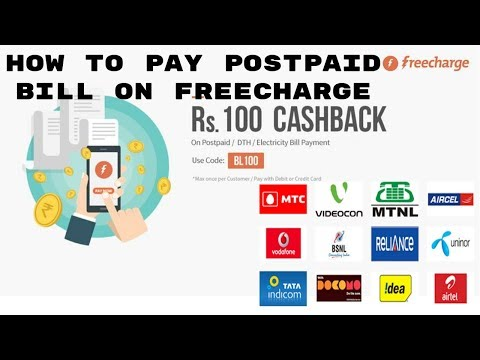 How To Pay Postpaid Bill on Freecharge