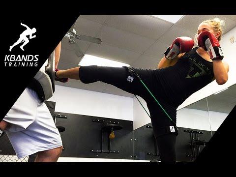 Use Resistance To Improve Kick Power | Kbands Elevating Triple Kicks