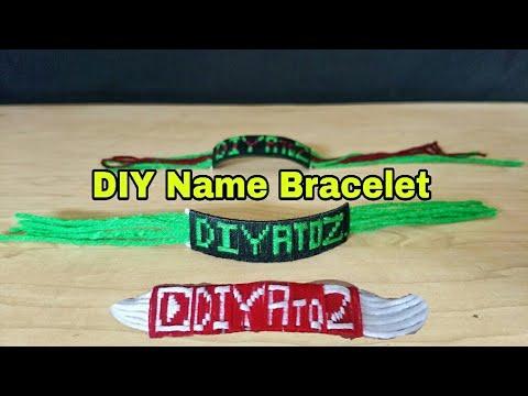 How to Make Name Bracelet at Home - DIY  Name Bracelet Using Yarn (full Tutorial)