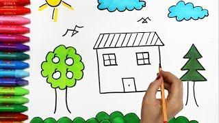 Cara Menggambar Rumah Mudah Dan Menyenangkan Playingitnow All The