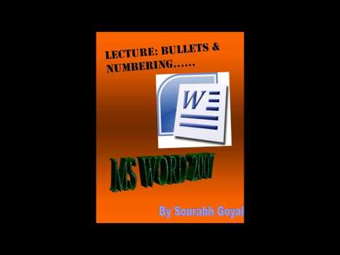 MS WORD  2007 2010 : MULTILEVEL LIST(Hindi)