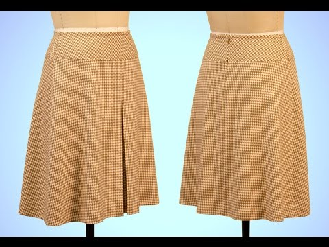 A-Line Skirt Sewing with Yoke and Box Pleat - Introduction (FREE SAMPLE)