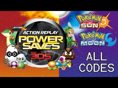 Powersaves 3DS: ALL Codes for Pokémon Sun and Moon as of 12/27/2016. Modify IVs, EVs, Natures!