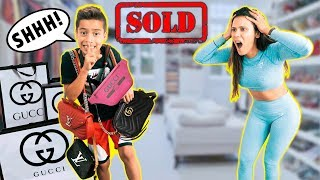 SELLING My Mom's GUCCI Items! *FUNNY* | The Royalty Family