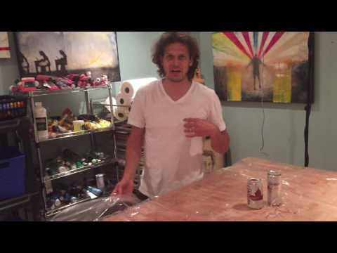 Video Friday EP 13  - Using a Thick Shower Curtain Under Resin Art