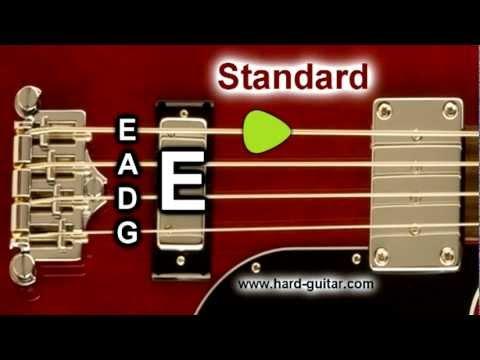 Bass Guitar Tuner - E Standard Tuning (E A D G) 4 Strings