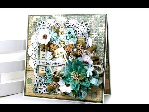 Vintage Ballerina Fairy Greeting Card Polly's Paper Studio Butterfly Chipboard Flowers Tutorial DIY