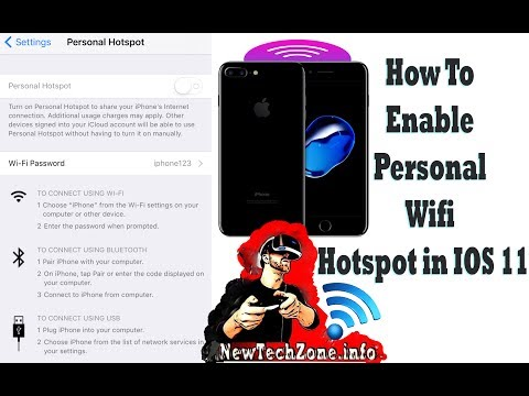 How to enable IOS 11 Personal Hotspot