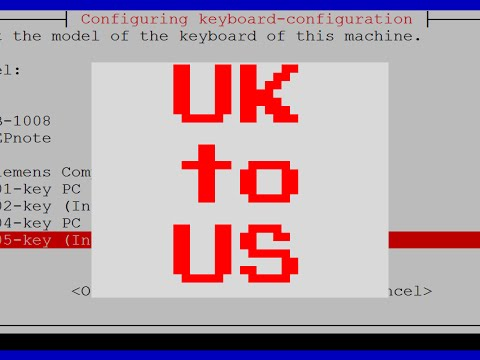 Raspberry Pi: How To Change UK Keyboard to US Keyboard