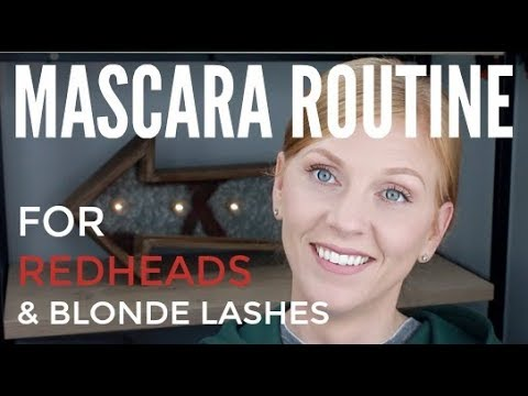 BEAUTY BASICS - MASCARA ROUTINE FOR REDHEADS & BLONDE LASHES