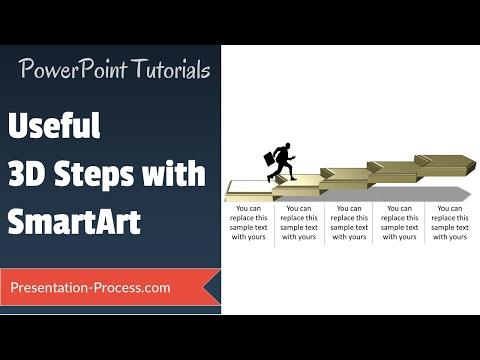 How to create 3D Steps with Smartart : (SMARTART SECRETS)