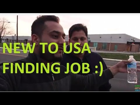 New to USA Finding a Job