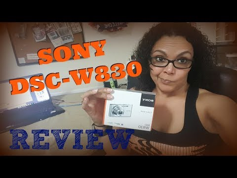 SONY DSC-W830 CAMERA UNBOXING & REVIEW