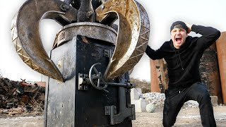Breaking Into A 100 Year Old Safe With Giant Claw Machine!!