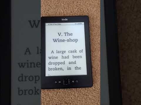 How to change the font size on a 4th generation Kindle