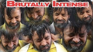 Brutally Intense Head Massage with Hair and Neck Cracking