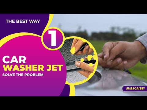How To Adjust And Clean Out WindShield Washer Squirters | Aim The Windshield Nozzle In 2 Steps [4K]
