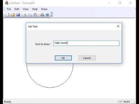 VC++ MFC Basics - 5 - Dialog box with SDI